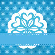 Blue christmas paper snowflake vector background — Stock Vector #60323777