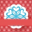 Blue christmas paper snowflake vector on red background — Stock Vector #60323799