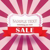 Valentines day sale vintage design template — Stock Vector