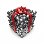 Dumbbell gift — Stock Photo