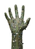 Data hand — Stock Photo