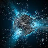 Disco planet explosion — Stock Photo