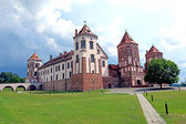 Ancient Mir Castle Complex in Belarus — Stock Photo