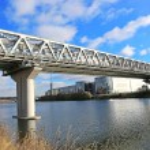 Myakininskiy (Mitinskiy) Metro bridge in Moscow — Stock Photo #56537759