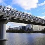 Myakininskiy (Mitinskiy) Metro bridge in Moscow — Stock Photo #57217959