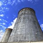 Large factory chimneys — Stock Photo #59631329
