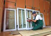 Installation of plastic windows — Stock Photo