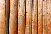Background of log stockade — Stock Photo