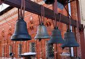 Campane di bronzo dalla chiesa cristiana — Foto Stock