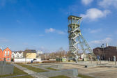 Mining tower as a memorial — Stock Photo
