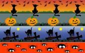 Halloween borders — Stock Vector
