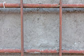 Concrete wall with rebar — Stock Photo