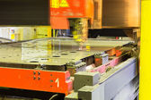 Laser cutting machine — Stock Photo