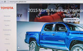 Toyota homepage — Stock Photo