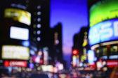 Blurred night streets of New York — Stock Photo