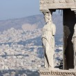 Close up of caryatids in Erechtheion of Erechtheum — Stock Photo #53188007