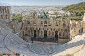 Odeon of Herodes Atticus in Athens — Stock Photo