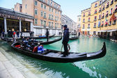 Gondola station in Venice water canal — Stock Photo