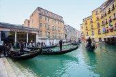 Gondola station in Venice — Stock Photo