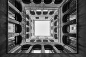 Bottom view of Archeological Museum in Venice bw — Stock Photo