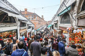 Rialto markets in Venice — Stock Photo