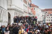 People at Riva degli Schiavoni — Stock Photo