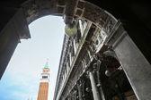 Saint Mark campanile on Piazza San Marco — Stock Photo