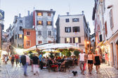 People walking in streets of Rovinj — Stock Photo