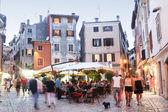People walking in streets of Rovinj — Stock Photo