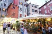 Tourists in Rovinj — Stock Photo