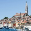 Saint Eufemia church and bell tower in Rovinj — Stock Photo #72730923