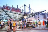 Městské tržiště v Rovinj — Stock fotografie