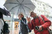 面白い観光客 — ストック写真