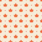 Retro vzor bezešvé. oranžový Javorové listy a tečky na béžové te — Stock vektor