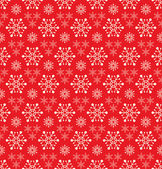 Red seamless snowflake pattern — Stock Vector