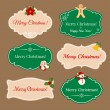 Vintage frames with Christmas decorations — Stock Vector #56531941