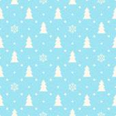 Christmas seamless background with fir tree and snowflakes — ストックベクタ