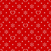 Vintage polka dot pattern with snowflake and heart — Wektor stockowy