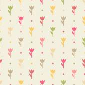 Retro seamless flower pattern. — Stock Vector