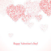 Festive background with hearts.  — Stock Vector