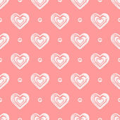 Pink seamless grunge hearts pattern. — Stock Vector