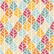 Vector seamless pattern with stylized leaves — Stock Vector #79479496