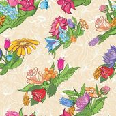 Vintage bright floral pattern — Stock Vector