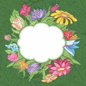 Vector bright flower frame — Stock Vector