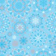 Vector blue snow pattern — Stock Vector #54261923