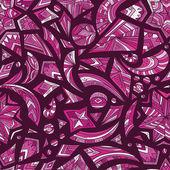 Creative pink tribal pattern — ストックベクタ