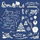 Christmas design elements set — Stock Vector
