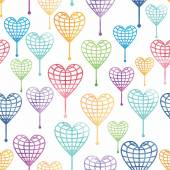 Seamless pattern with globe hearts — 图库照片