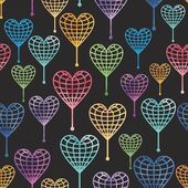 Seamless pattern with globe hearts — Photo