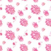 Watercolor pattern with pink flowers — Stock Photo